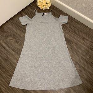H&M Grey Off Shoulder Skater Dress